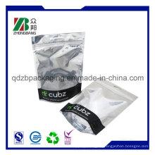 Kundenspezifische Druck-Feuchtigkeitsbarriere Matte Laminierte Aluminiumfolie Verpackungstasche