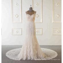 Chine Custom Made Alibaba robe de mariée sirène Applique manches longues robes de mariée 2018