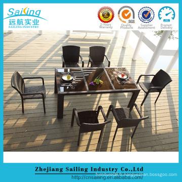 Meubles d'extérieur de luxe en osier 2016 Patio Rattan Garden Chairs