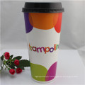 Custom Logo Printed Disposable Single Wall Drink Paper Cup with Lids