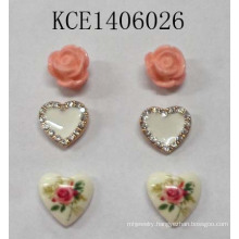 Lovely Earrings Set with Metal Jewellery