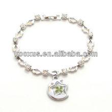 Lucky Four Leaf Clover Диамантский браслет-шарм