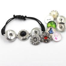 Moda de metal colorido pulsera botón de encaje Snap
