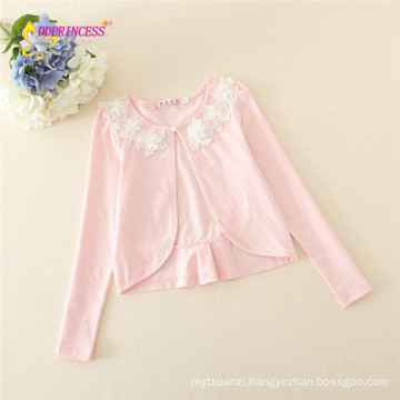 new arrival korean girl coat flower design autumn spring summer jacket cotton baby girl coat