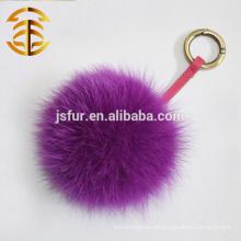2014 Neue Art-Fox-Pelz-Ball-Schlüsselketten für Beutel-Auto-Ausgangsdekoration-reale Pelz-Zusätze Hotsale Fox-Pelz-Pom Pom-Designer Keychain