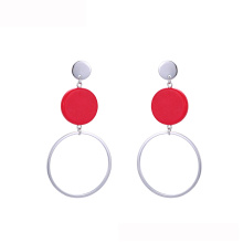 E-260 2018 xuping jewelry white gold color rhodium plated huggie hoop American new simplelatest design fashion earrings
