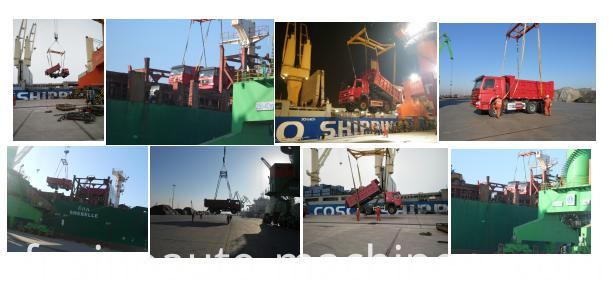 our trucks and machinery shipped on board