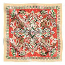 Bandana de seda da sarja do projeto 2014 de paisley da forma