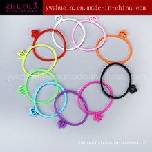 Bracelet en caoutchouc silicone pour fille