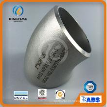 Colocaciones de la soldadura a tope del acero inoxidable del codo 45D codo Wp316 / 316L con Ce (KT0225)