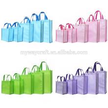 Grande saco de compras dobrável não tecido