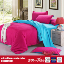 Hot Solid Color komfortable Combo Polyester Bettwäsche-Set