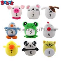 """4 """"Cute Plüsch gefüllte Tier Set Spielzeug Welpen Spielzeug mit Squeaker Bosw1066 / 10cm"""