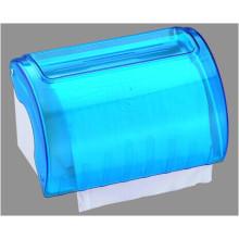 Hotel Publicl Toilet venta al por mayor azul translúcido redondo de plástico montado en la pared cocina rollo de papel higiénico