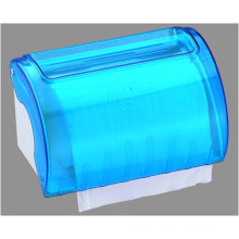 Hotel Publicl Toilet Wholesale Blue Translucent Round Plastic Wall Mounted Kitchen Tissue Paper Roll Holder