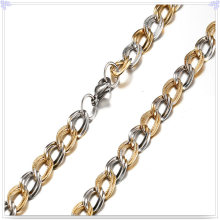 Collar de moda cadena de acero inoxidable (sh033)