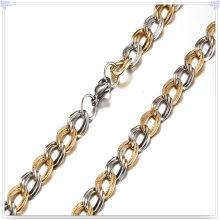Moda cadeia de aço inoxidável colar (sh033)