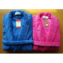 Bedruckter Fleece-Kimono-Bademantel