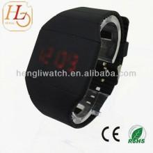 Популярные Сенсорный экран светодиодные часы, силикон цифровой часы (15024)