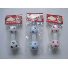 Chien jouet vinyle football haltère animal produits