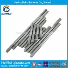 Pernos de acero inoxidable de alta calidad DIN835 de extremo de rosca M4-M24