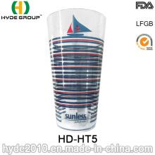 Taza de jugo de plástico transparente taza estadio