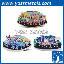 Hard enamel glitter music souvenir lapel pins