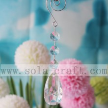 Natural Faceted Acrylic Wedding Tree Garland Pendant Rock Clear  Crystal Chandelier Parts