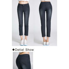 Mid Waisted Stretch Skinny Cropped Jeans