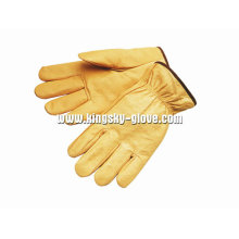 Pig Grain Leather Straight Thumb Driving Work Glove-9502