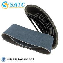 Ceinture noire de sable de carbure de silicium pour le polissage en métal