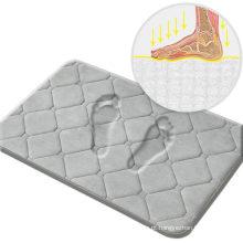 Tapetes de espuma de flanela de banho de espuma de memória, tapetes de banheiro cinza 20X32, absorventes rápidos, laváveis à máquina, antiderrapantes, fáceis de secar, aplicar para quarto, banheiro, cozinha, chuveiro