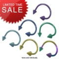Titanium Horseshoe Body Piercing Jewelry