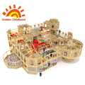 Wooden Castle Indoor Playground Equipment For Children