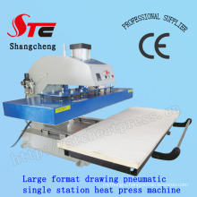 Large Format Automatic T-Shirt Heat Transfer Machine 50*120cm Pneumatic Drawing Heat Press Machine Single Station T Shirt Printing Transfer Machine Stc-Qd08