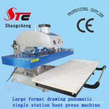 Большого формата автоматические футболку тепловой передачи машина 50 * 120 см пневматические рисунок тепла пресс машина одной станции T Рубашка печати передачи машины Stc-Qd08
