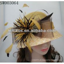 Sombrero de moda de Sinamay / sombrero de la iglesia / sombrero de la boda