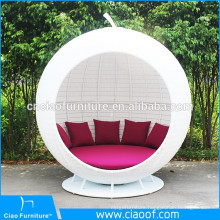 Hot Sale Low Price PE Rattan Apple Sunbed