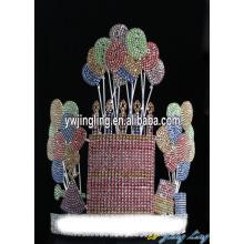 Custom Rhinestone Happy Birthday Cupcake And Balloon Crown