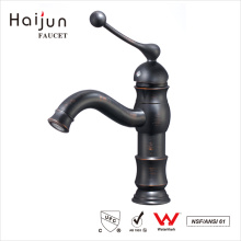 Haijun Goods On Sale Single Hole Deck Mounted Bathroom Basin Faucets