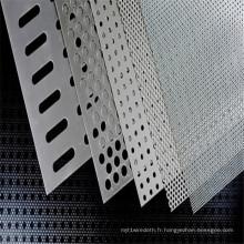 Acier au carbone perforé / treillis métallique perforé