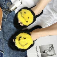 Zapatillas de pieles peludas suaves de excelente calidad