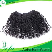 Cheveux remy humains de cheveux vierges non transformés à 100%