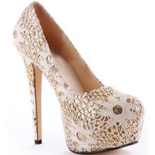 леди мода обнаженная туфли на платформе