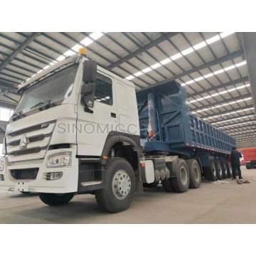 6 axles dump truck trailer 45 cubic meter