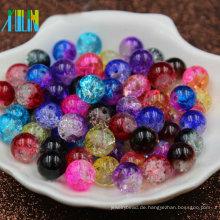 104pcs klar Crackle Runde 8mm Perle Schmuckzubehör Handwerk Bead Supply