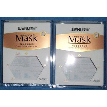 Caixa de embalagem de plástico personalizado para máscara (caixa de impressão de PVC)