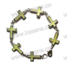 Bracelet croisé en métal de mode