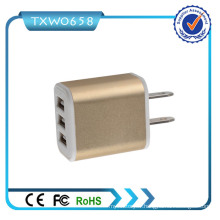Fabrication de prix bon marché 3 ports USB 5V 2.1A Chargeur mural USB