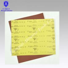 """papier de verre imperméable à l'eau de couleur rouge d'oxyde d'aluminium 9 """"* 11"""" P60"""